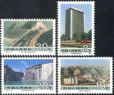 China 1989 Trains/Railway/Coal Mining/Dam/Buildings/Transport 4v set (n26442)