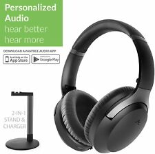 Bluetooth 5.0 Customized Audio Wireless Over Ear Headset w/ Charging Stand & Mic