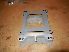"Carburetor Spacer 1"" Aluminum W/ Nipple Holley Carter Edelbrock Demon w/ Gaskets"