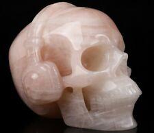 "5.0"" ROSE QUARTZ Carved Crystal Skull, Realistic, Crystal Healing"