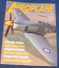 AEROPLANE MONTHLY MARCH 1987 -STARSHIP ALPHA/HOLLYWOOD PILOT