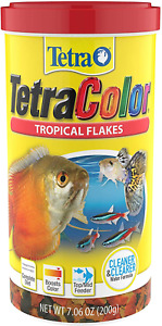 7.06oz Tetra Tropical Color Fish Flake, FREE 12-Type Ultra Pellet Blend Included