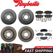 Brake Rotors POWERSPORT DRILL//SLOT /& PADS FRONT Mitsubishi OUTLANDER 05-06