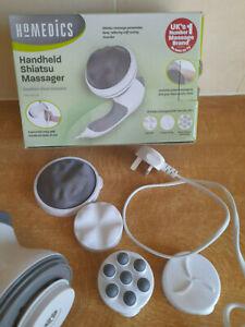 HoMedics Handheld Electronic Vibrating Shiatsu Body Massager + 3 Massage Heads