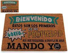 """FELPUDO """"BIENVENIDOS"""" DE FIBRA DE COCO 60X40 CM (24444)"""