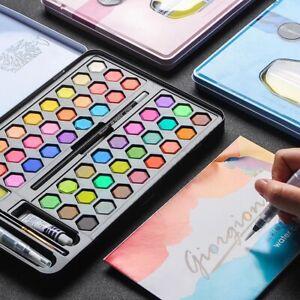 Professional 48 Watercolour Complete Paint  Set Brush, Pad Water Art Kits