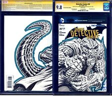 Detective Comics #20 BLANK CGC SS 9.8 signed KILLER CROC SKETCH by Rodney Ramos