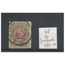 """Nederland 48  met """"GROESBEEK 1899"""" grootrond VFU/gebr  CV  575+ €"""