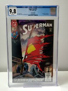 Superman #75 - DC Comics 2nd Print - CGC 9.8 WHITE Pages