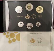 6-Coins Specimen Set: 2017 Classic Snow Goose, Canada's 150th Birthday. No Tax.