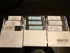 Atari 800 XL XE Floppy Disks 5.25in BRODERBOND PRINT SHOP 9 Disks FREE P&P
