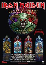IRON MAIDEN LEGACY OF THE BEAST EUROPEAN TOUR 2018 GERMANY PROMO POSTER