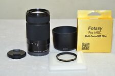 Sony E 55-210mm f/4.5-6.3 E-Mount Telephoto Lens SEL55210 (Black)+Filter **NEW**