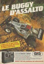 X4019 Le Buggy d'assalto - GIG - Pubblicità 1986 - Advertising