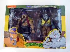 "NECA Bebop & Rocksteady Figure Set TMNT 7"" Cartoon Ninja Turtles Villains 2 Pack"