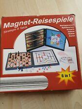 6 in 1 Spielesammlung Magnetspiel