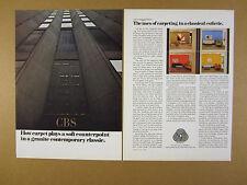 1967 Florence Knoll CBS Building interior design details Wool Carpet print Ad