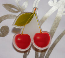 For the love of Neil! brooch cherry cherries rockabilly retro cute funky