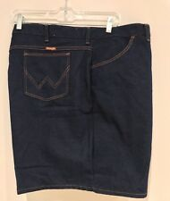 VINTAGE New Wrangler Dark Denim Jean Shorts Made In USA Mens Size 54