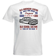 VINTAGE AMERICAN BUICK SUPER 1955 - NEW COTTON T-SHIRT