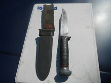 PAL-WW2 era USN MARK I Fighting Knife RH-35 parkerized blade NORD scabbard-MINT!