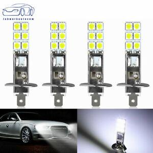 4PCS H1 80W 6000K Super White LED Headlight Bulbs Kit Fog Driving Light Lamp