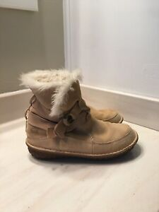 Sorel Tootega Waterproof Insulated Leather Winter Boots - Women's Size 9 W- Tan