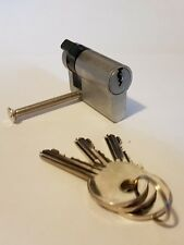 Roller Shutter Key Switch Cylinder Lock Single Half Euro Adjustable Cam 45mm