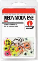 VMC Neon Moon Eye Jig Glow Kit Walleye, Bass, Perch, and Panfish Jig Tackle