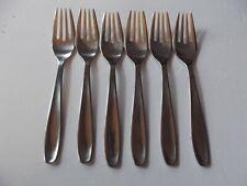 "set (6) Salad Dessert Forks 6-1/2"", Raadvad Denmark PERMANENT stainless steel"