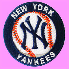 NY New York Yankees MLB Baseball Team Logo Embroidered Iron On Patch Free Ship