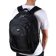 Mens 17 inch Laptop Backpack Outdoor Travel Sport School Computer Bag Black US