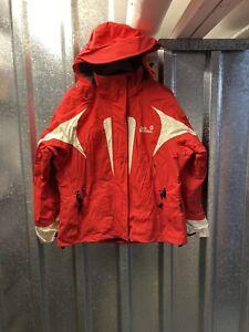 Jack Wolfskin Womens Texapore2 Ski Recco Waterproof Red White Jacket Coat Large