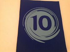 """Neoprene Sewing Patch Number 10 Swirl Royal Blue Rectangle 8"""" x 6"""" Soft"""