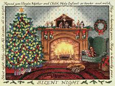 """Silent Night"" Greeting Cards-pack of 10 & envelopes, by artist, Julie Hammer"