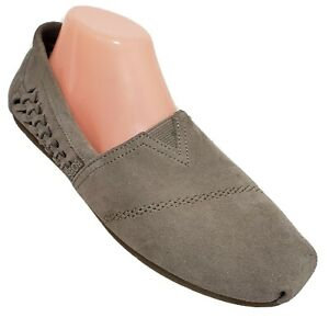 Bobs By Skechers Sz 10 Luxe Boho Crown Casual Suede Taupe Memory Foam 34305
