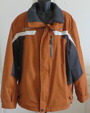 Men's ZeroXposur Winter Coat Jacket Outerwear Burnt Orange Fleece Lined XL Parka