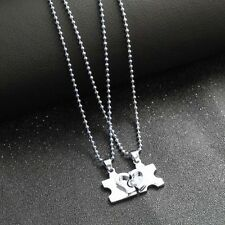 1 Pair I Love You Lock Heart-shaped Alloy Pendant for Couple Necklace
