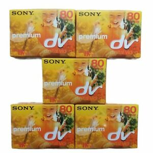 Sony DVM80PR3 premium MiniDV Kassetten cassettes 5x Konvolut bulk neu new sealed