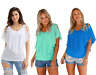 WOMEN COLD SHOULDER BATWING CHIFFON SUMMER BLOUSE TANK PARTY TOP SIZE 10 - 18