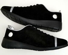 JUSTIN DEAKIN BLACK SUEDE TRAINER STYLE uk8 - eu4 Hand Made Shoes - NiB - £250