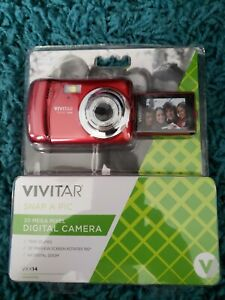 Vivitar ViviCam XX14 20MP HD Digital Camera 4X Digital Zoom. NEW! RED.