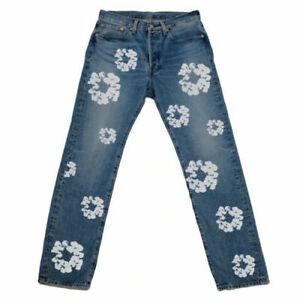 Levi's X Denim Tears 501 - The Cotton Wreath Jeans - Light Wash - Size 31 x 32