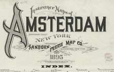 Amsterdam, New York~Sanborn Map©~sheets ~31 maps in color high resolution~1895