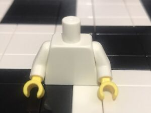 Lego Plain White Minifigure Torso With Yellow Hands X1 / Spare Parts