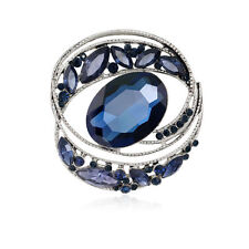 Unique style evil eye crystal rhinestone jewelry gift party women brooch pin
