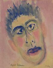 "Sybil Gibson ""Fear"" Face Original Folk Painting Outsider Art"
