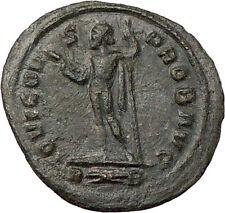 PROBUS 281AD  Ancient Roman Coin Nude ZEUS Jupiter w thunderbolt  i22086