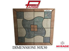 Rosone decoro Mirage ceramica mosaico su rete prima scelta levigato 30x30 B660