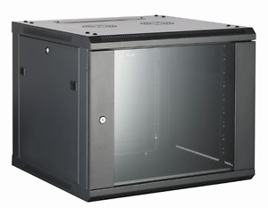 18U Wall Mounted Server Cabinet 600 (W) x 550 (D) Glass Front Door rack cabinets